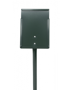 Etikethouder A5 / staand-dicht / stok 76 cm groen