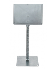 Etikethouder A5 / liggend-open / vaste voet/ 30 cm