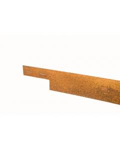 Mevosteel 3 mm ongecoat 225 x 15,2 cm
