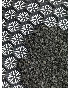 Mevoraster split-en grindplaat zwart
