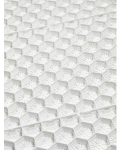 Mevoraster split-en grindplaat wit