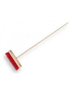 Vero bezem 41 cm PPN-vezel rood / met steel 160 cm