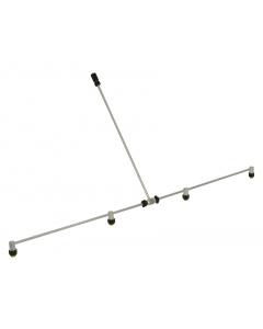 Birchmeier aluminium spuitboom / 4 doppen 108 cm